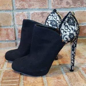 Victoria's Secret Leather & Lace Booties